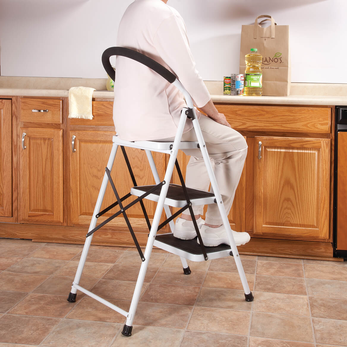 Step Ladder and Stool Combo by LivingSURE™    XL-347701