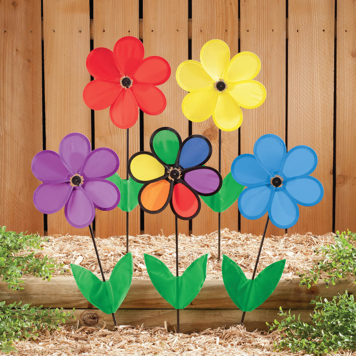 Colorful Flower Spinners Set of 5-348053