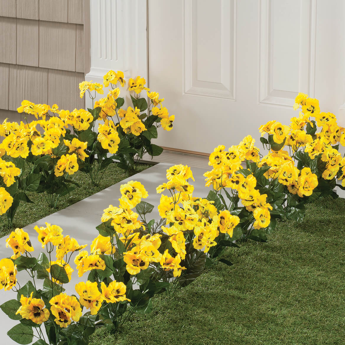 ... All Weather Yellow Pansy Bush By OakRidge™ Outdoor 348131