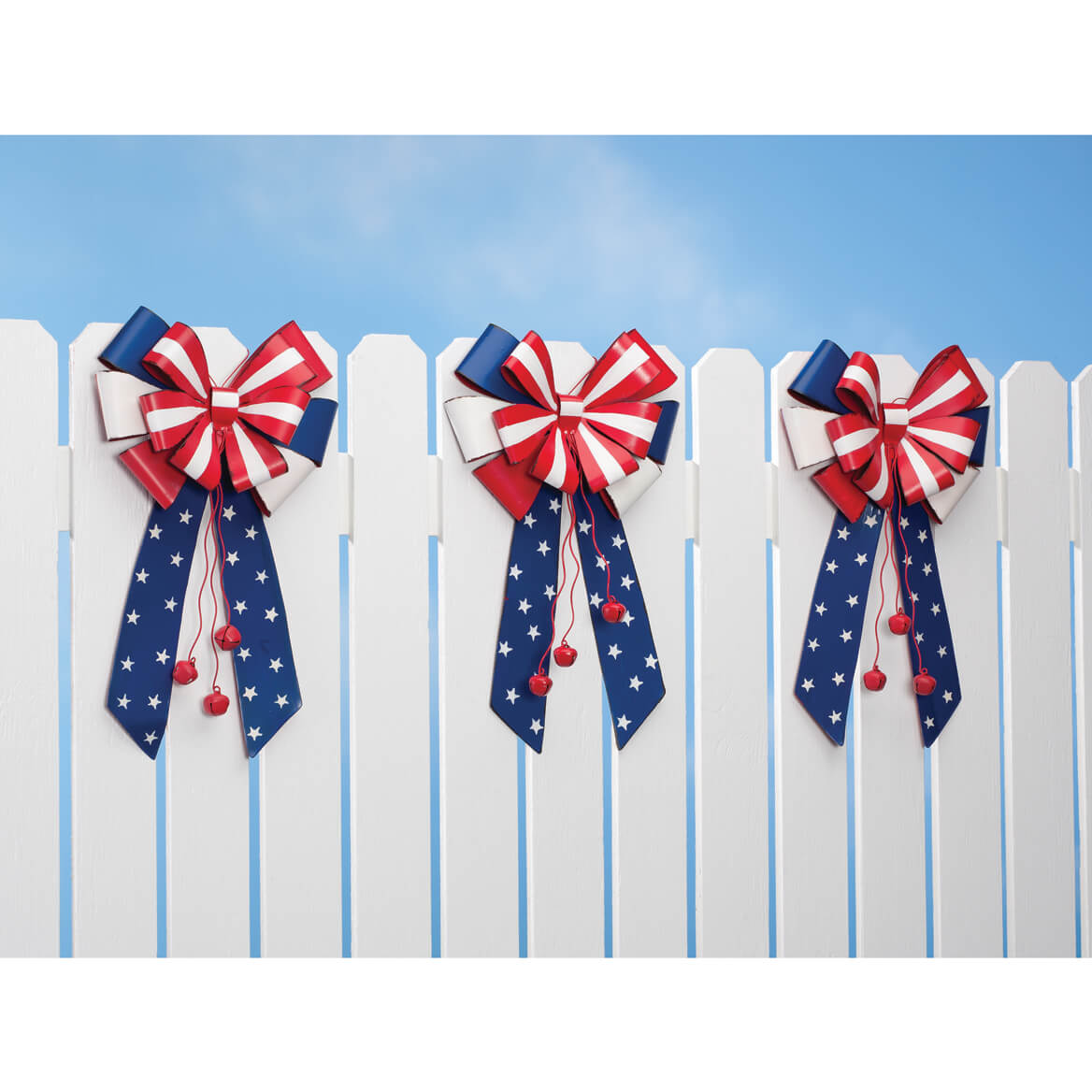 Patriotic Metal Bow Door Hanger by Fox River Creations™-348240