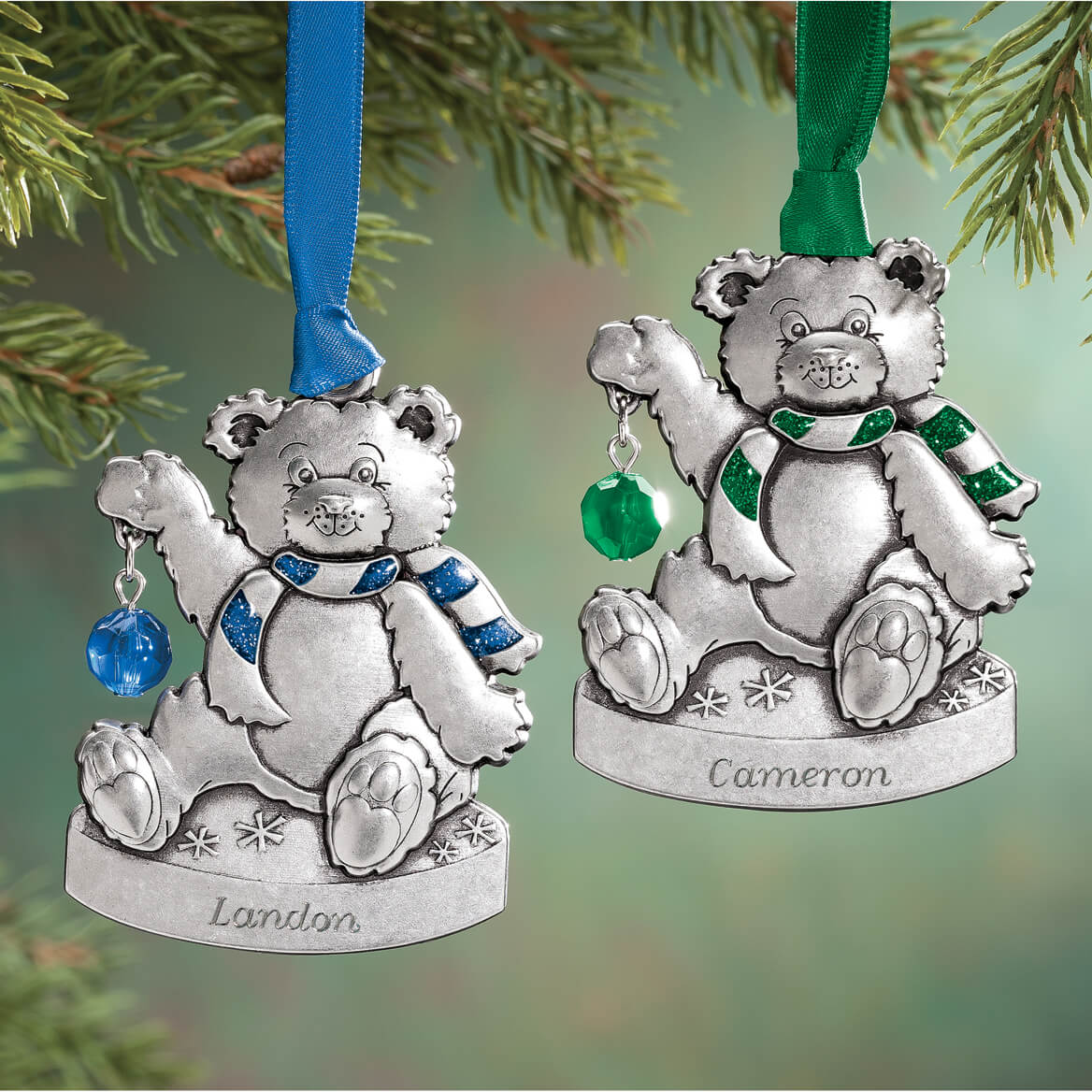 ... Personalized Pewter Birthstone Bear Ornament-349389