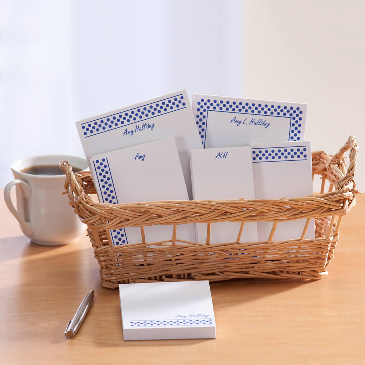 Personalized Polka Dots Basketful of Notepads-349461