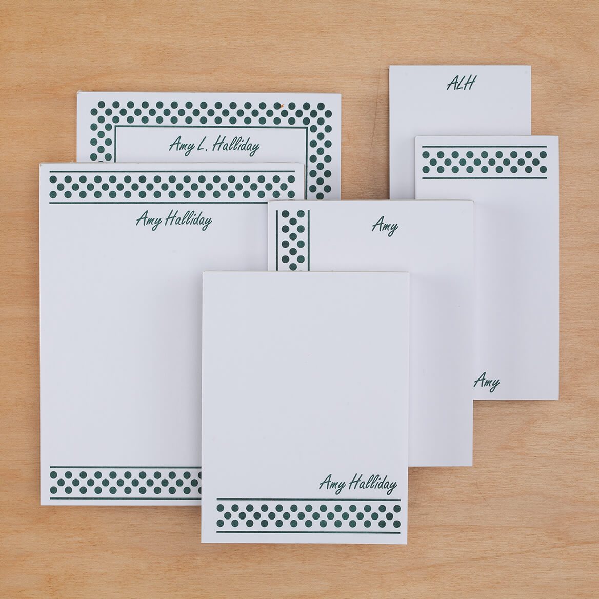 Personalized Polka Dots Basketful of Notepads Refill Set of 6-349462