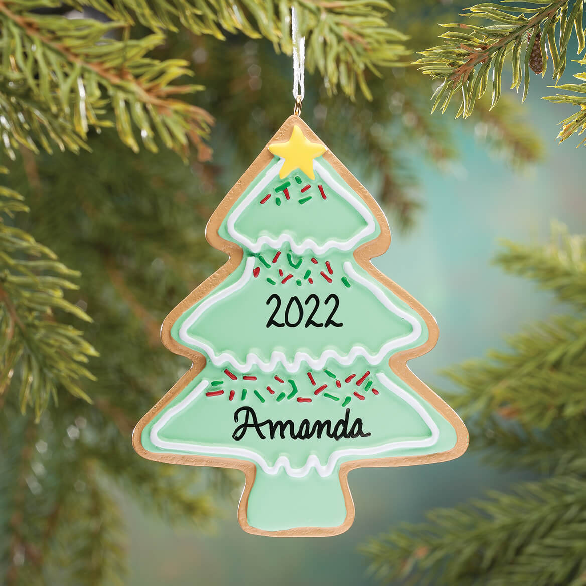 Personalized Christmas Tree Christmas Cookie Ornament-349603