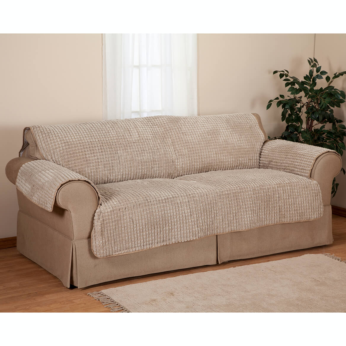Chenille sofa furniture protector sofa protector miles kimball Chenille sofa and loveseat
