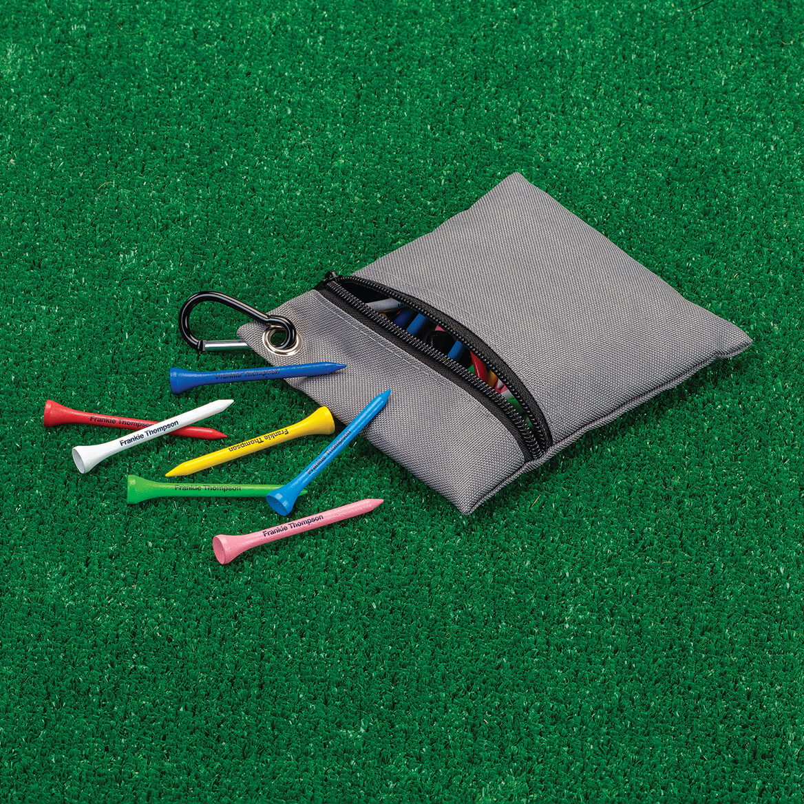 Personalized Colorful Golf Tees with Case-349644