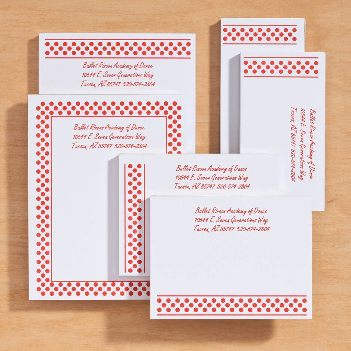 Personalized Polka Dots Business Notepads Refill Set of 6-350385
