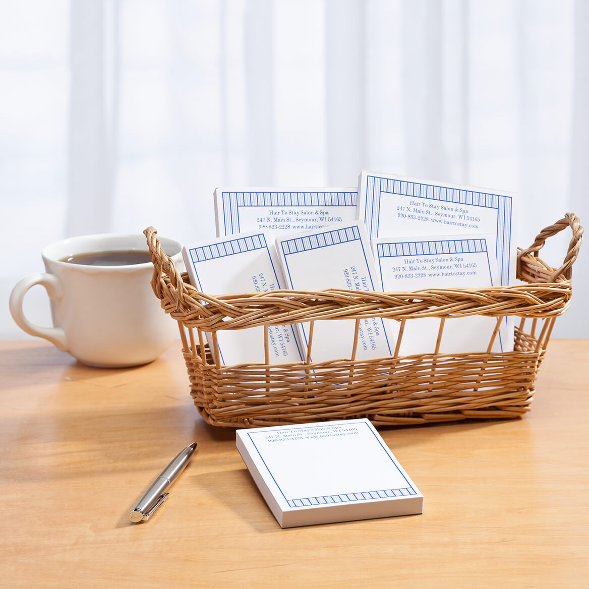Personalized Vertical Stripes Business Basketful of Notepads-350388