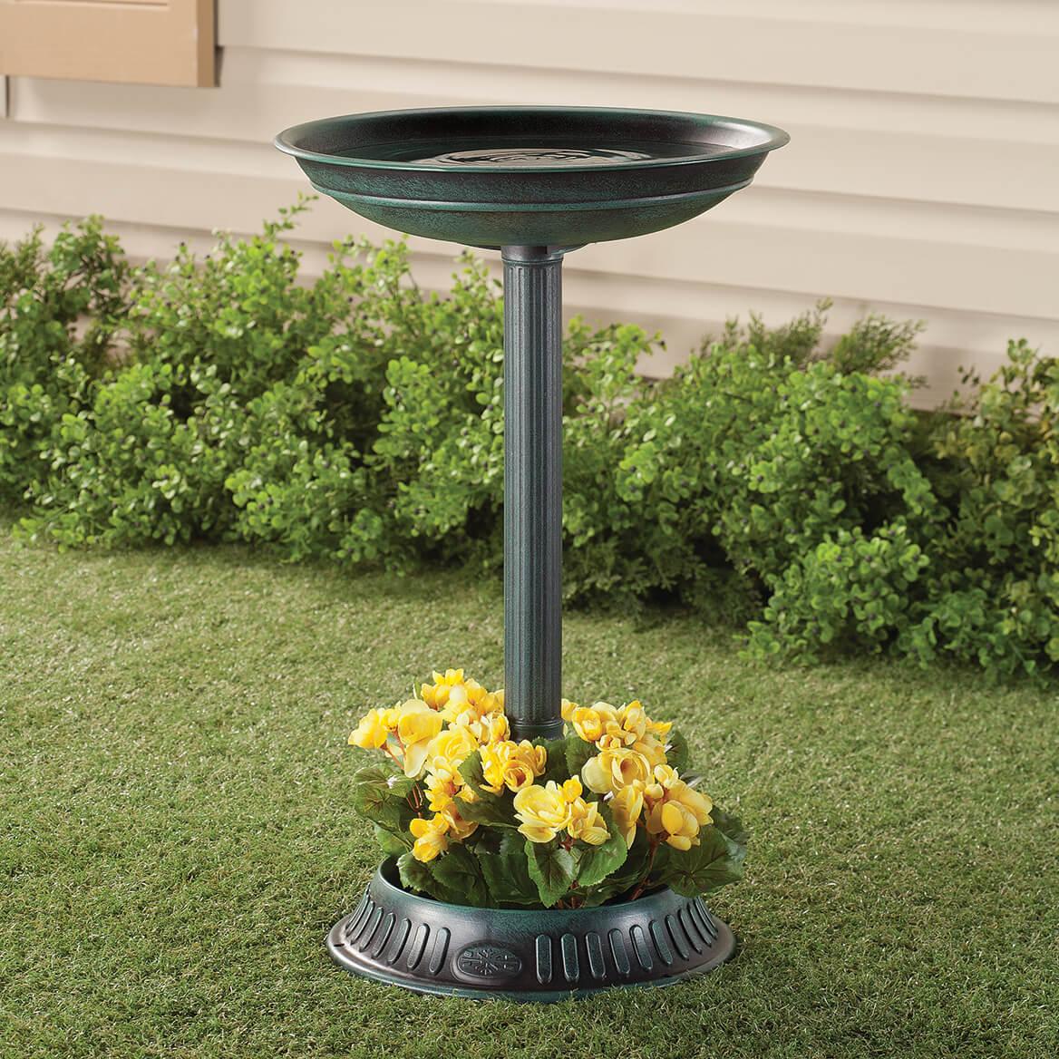 Birdbath with Planter-351183