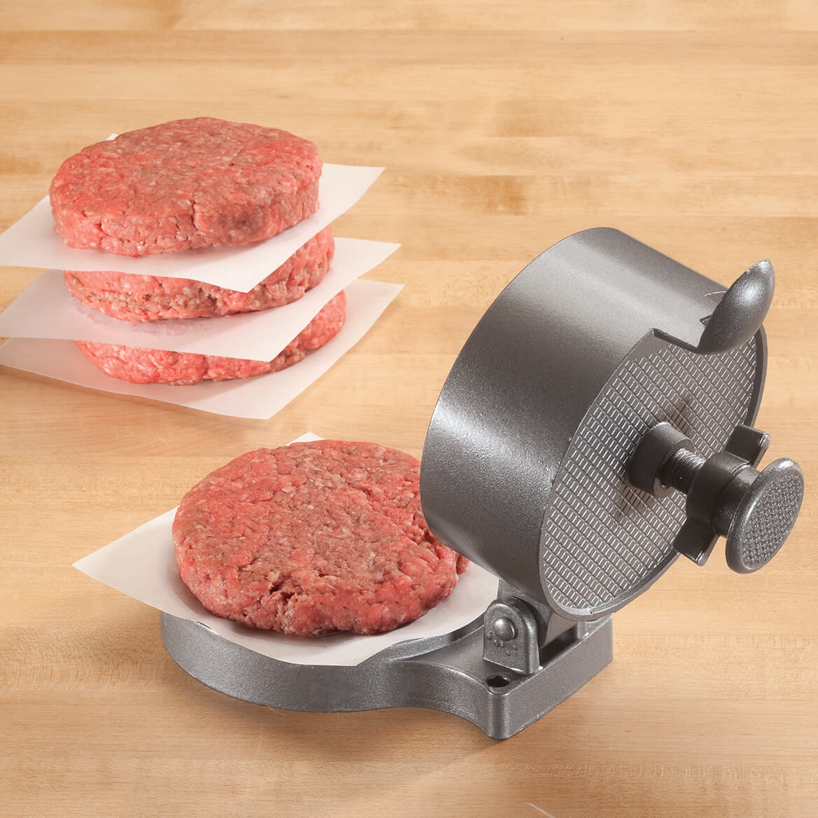 Aluminum Burger Press with Adjustable Thickness-351358