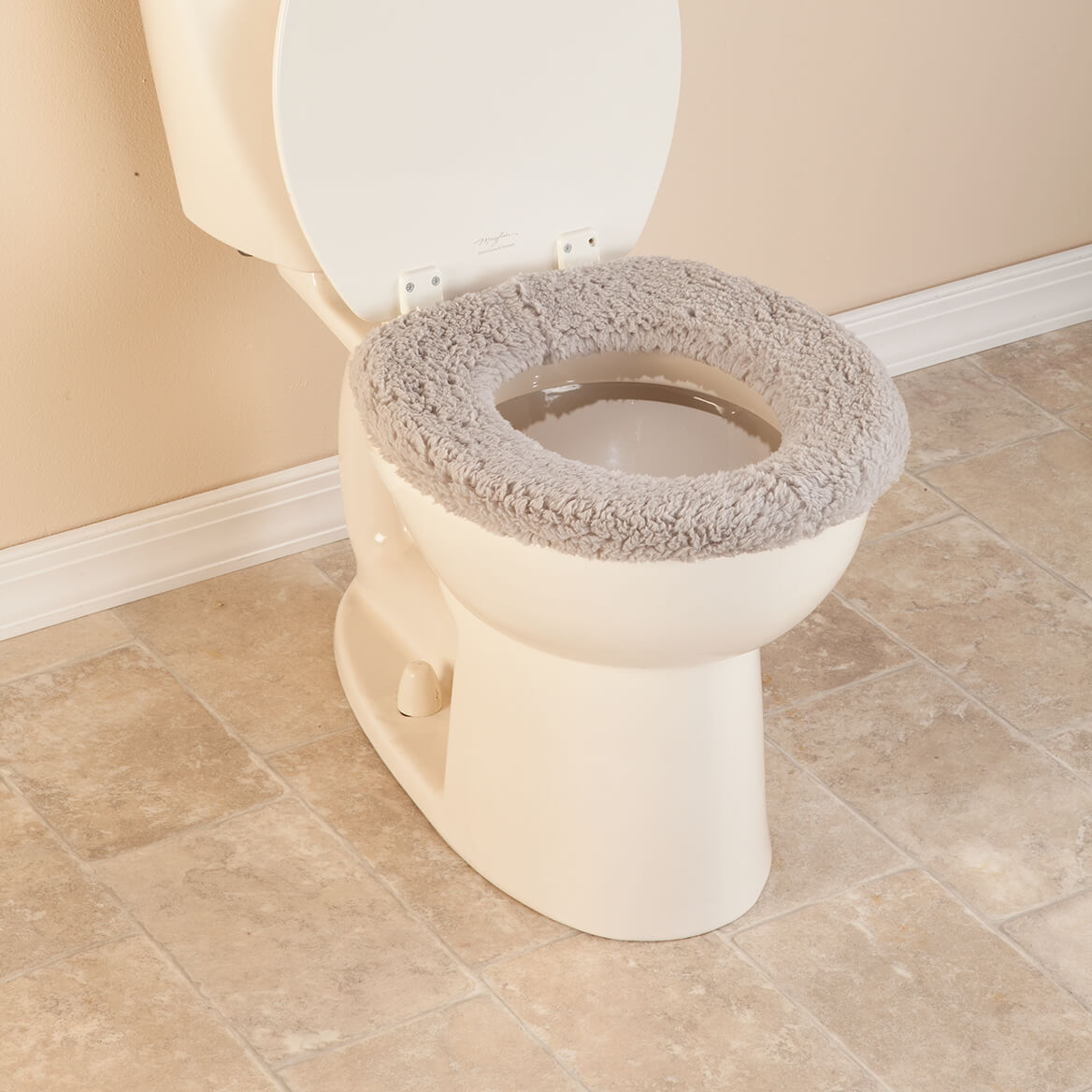 Sherpa Toilet Seat Cover - Cushioned Toilet Seat - Miles Kimball