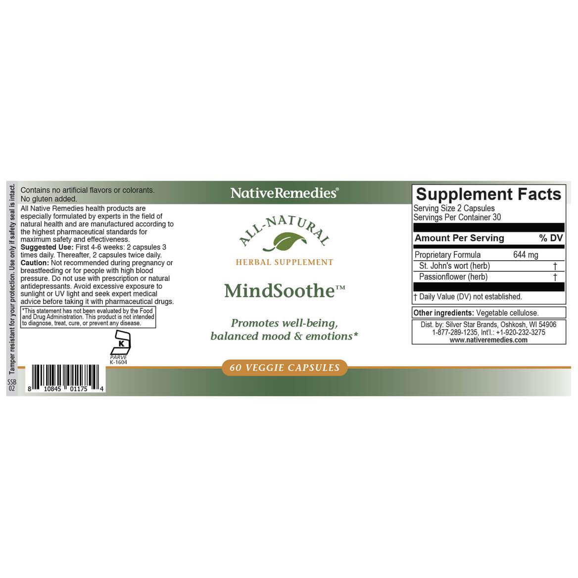 NativeRemedies® MindSoothe™ Veggie Cap-351847