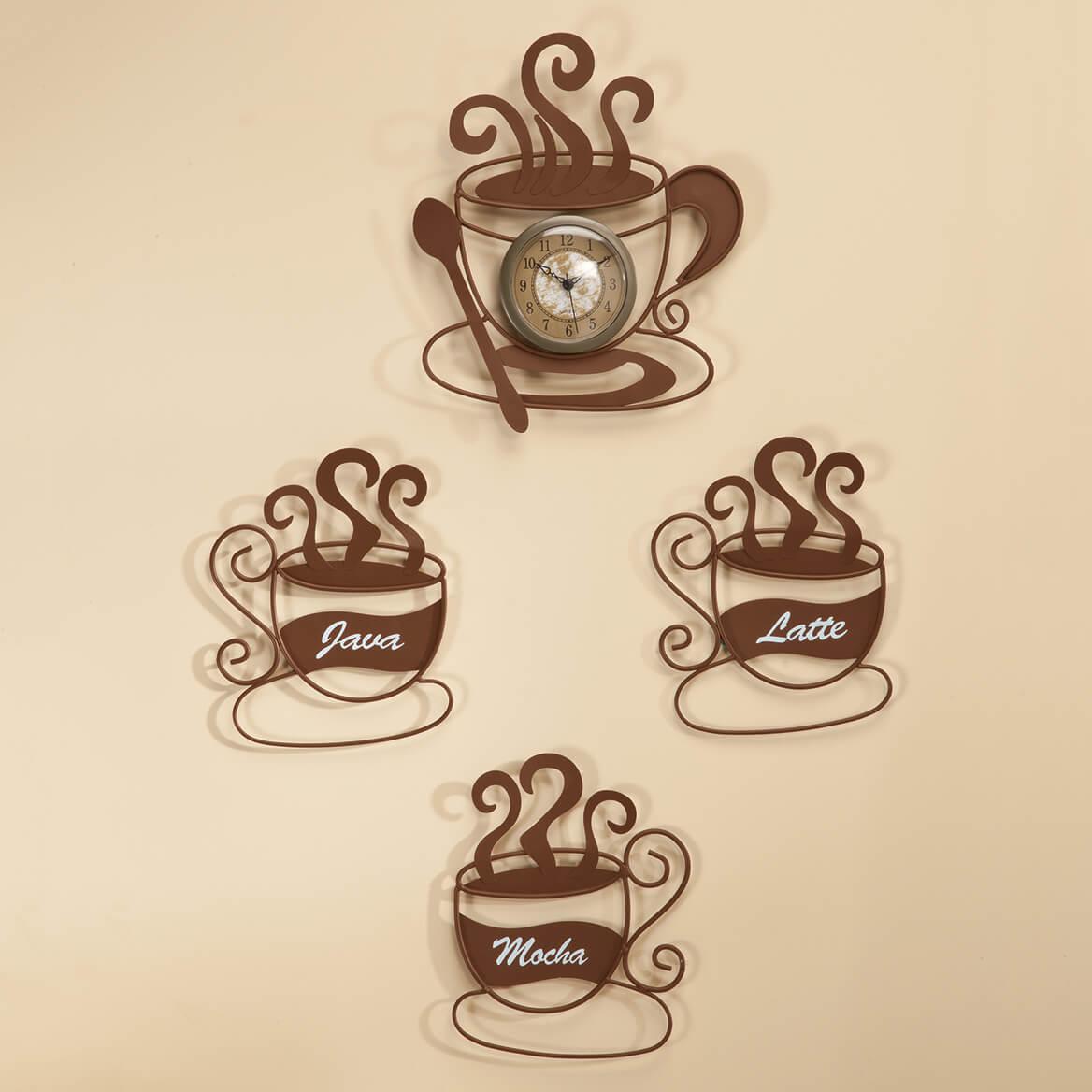 Metal Coffee Cup Décor Value Set-352287