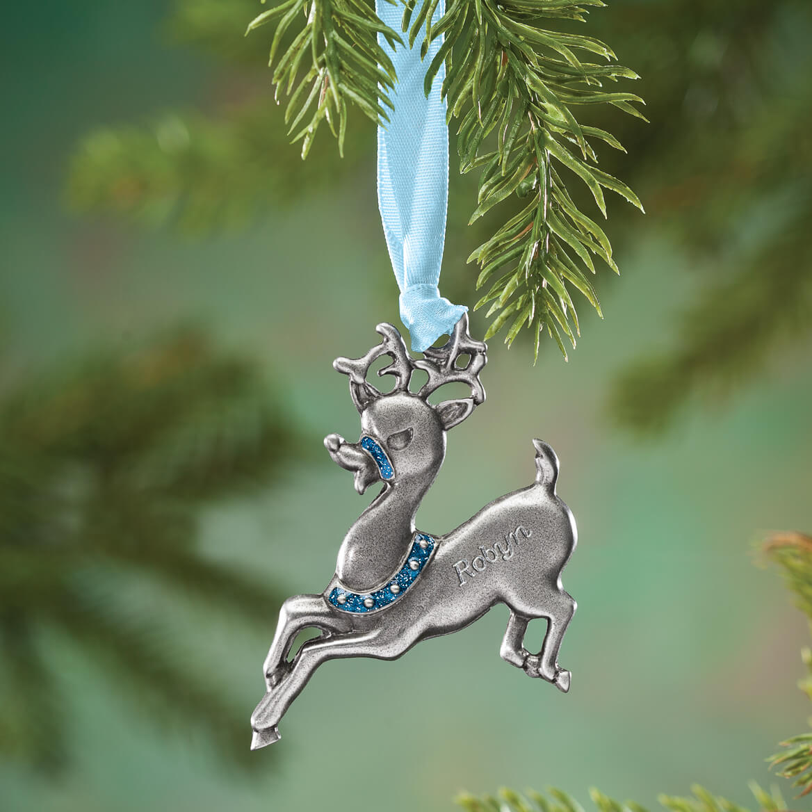 Personalized Reindeer Birthstone Ornament-353089