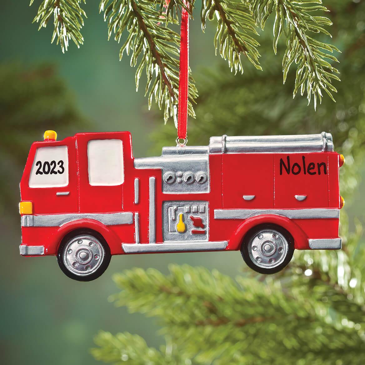 Personalized Fire Truck Ornament-353205