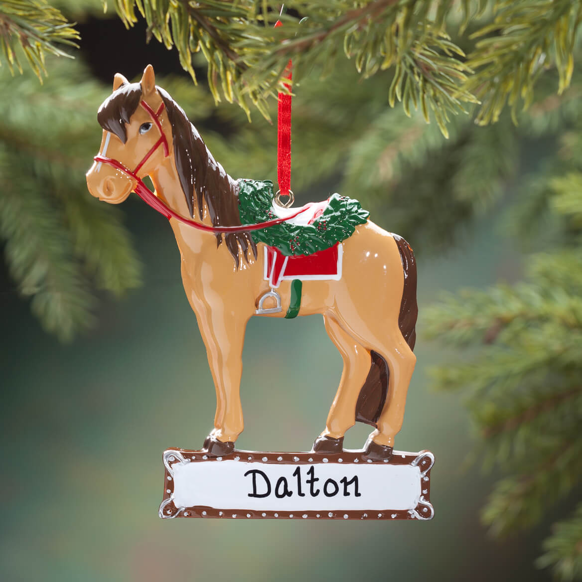 Personalized Horse with Saddle Ornament-353313