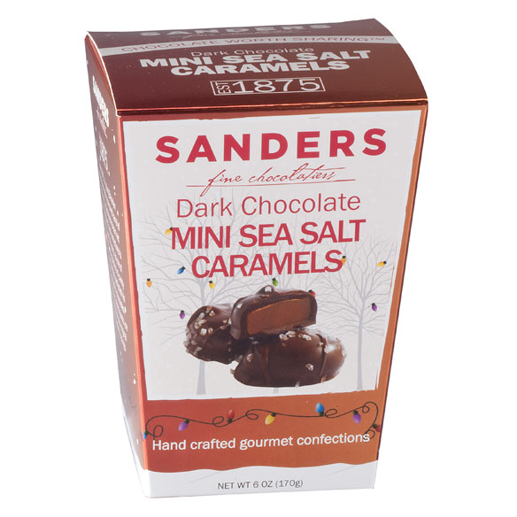 Sanders® Dark Chocolate Mini Sea Salt Caramels, 6 oz.-353547