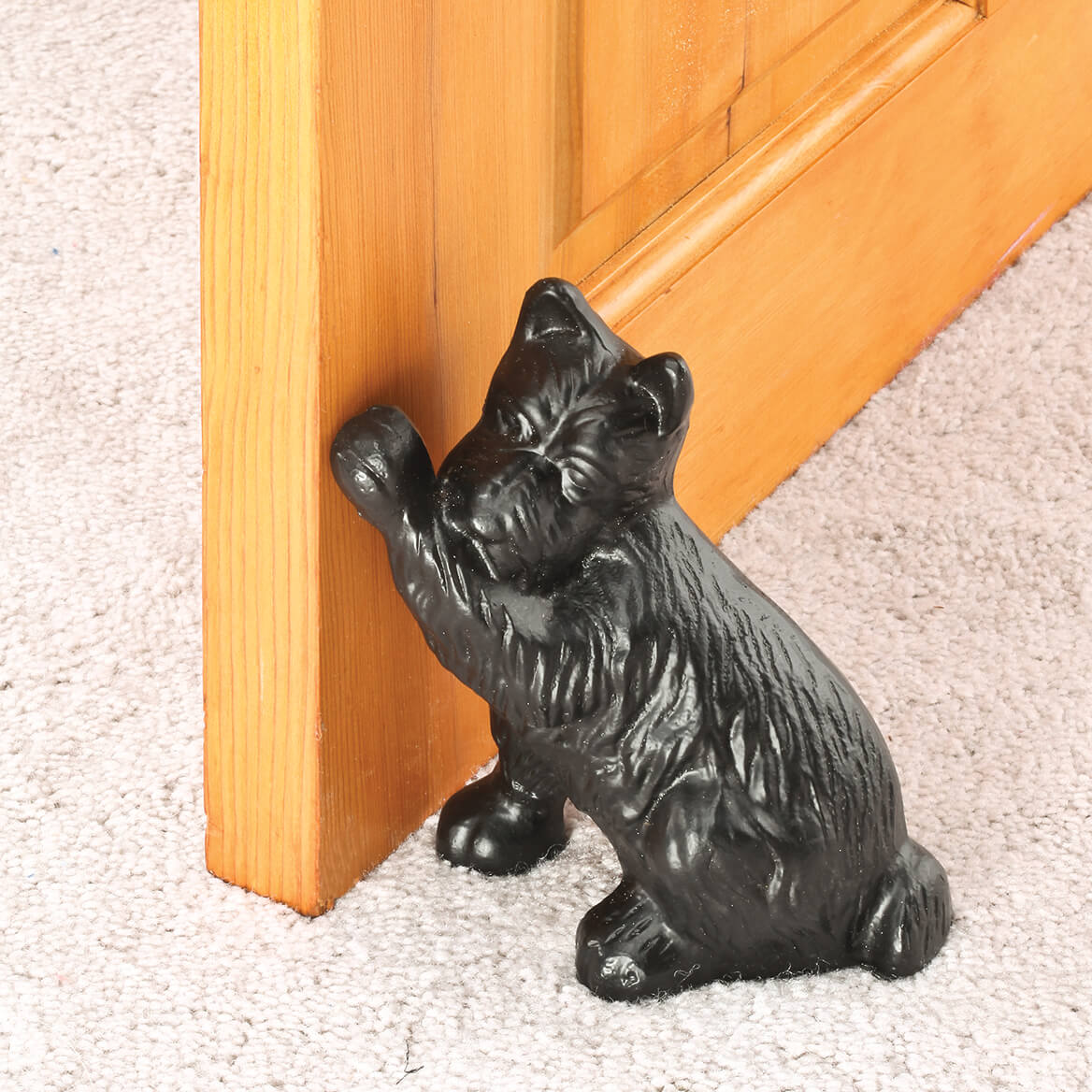 Cast iron dog doorstop metal door stop dog door stop miles kimball - Cast iron dog doorstop ...