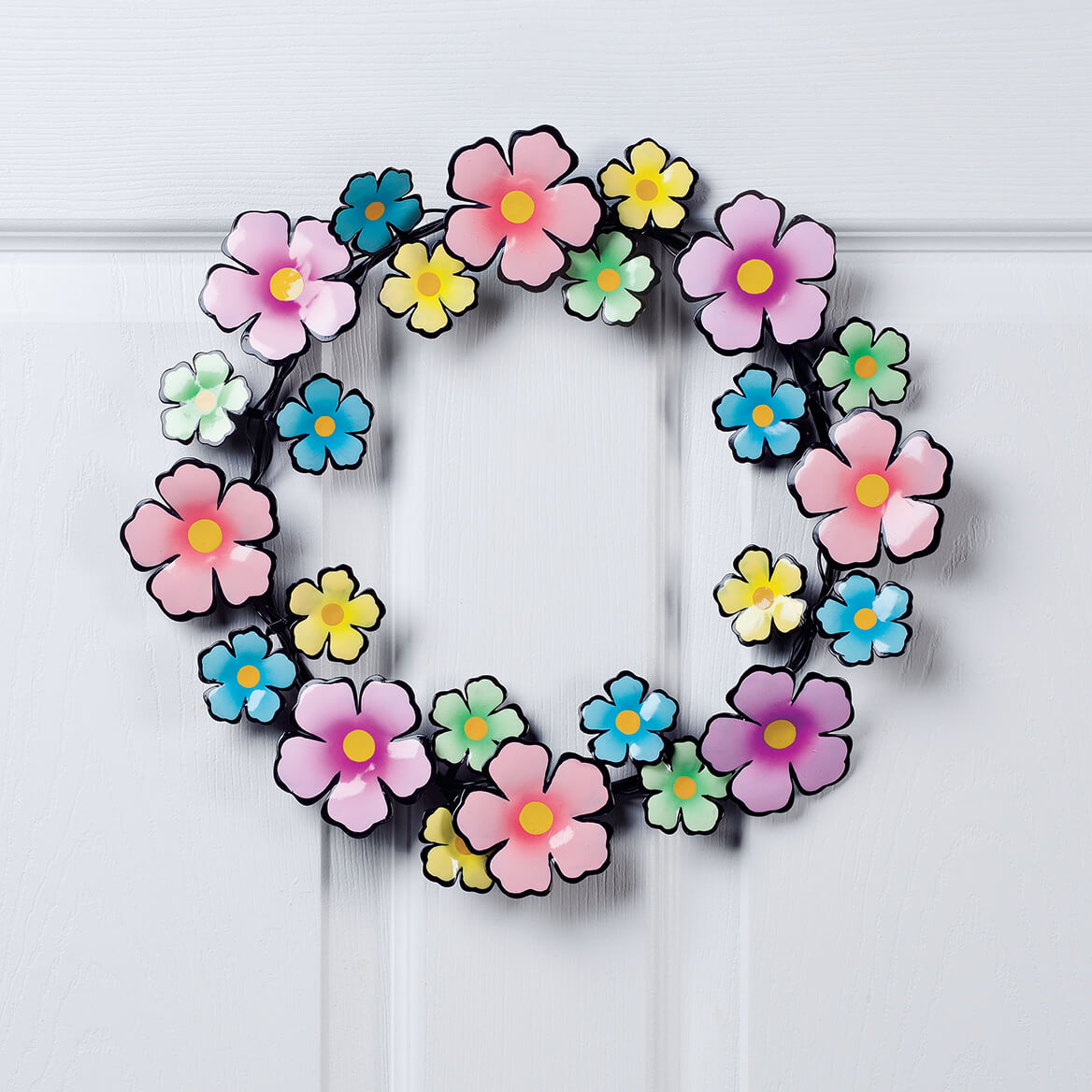 Metal Flowers Wreath by Fox River Creations™-354110