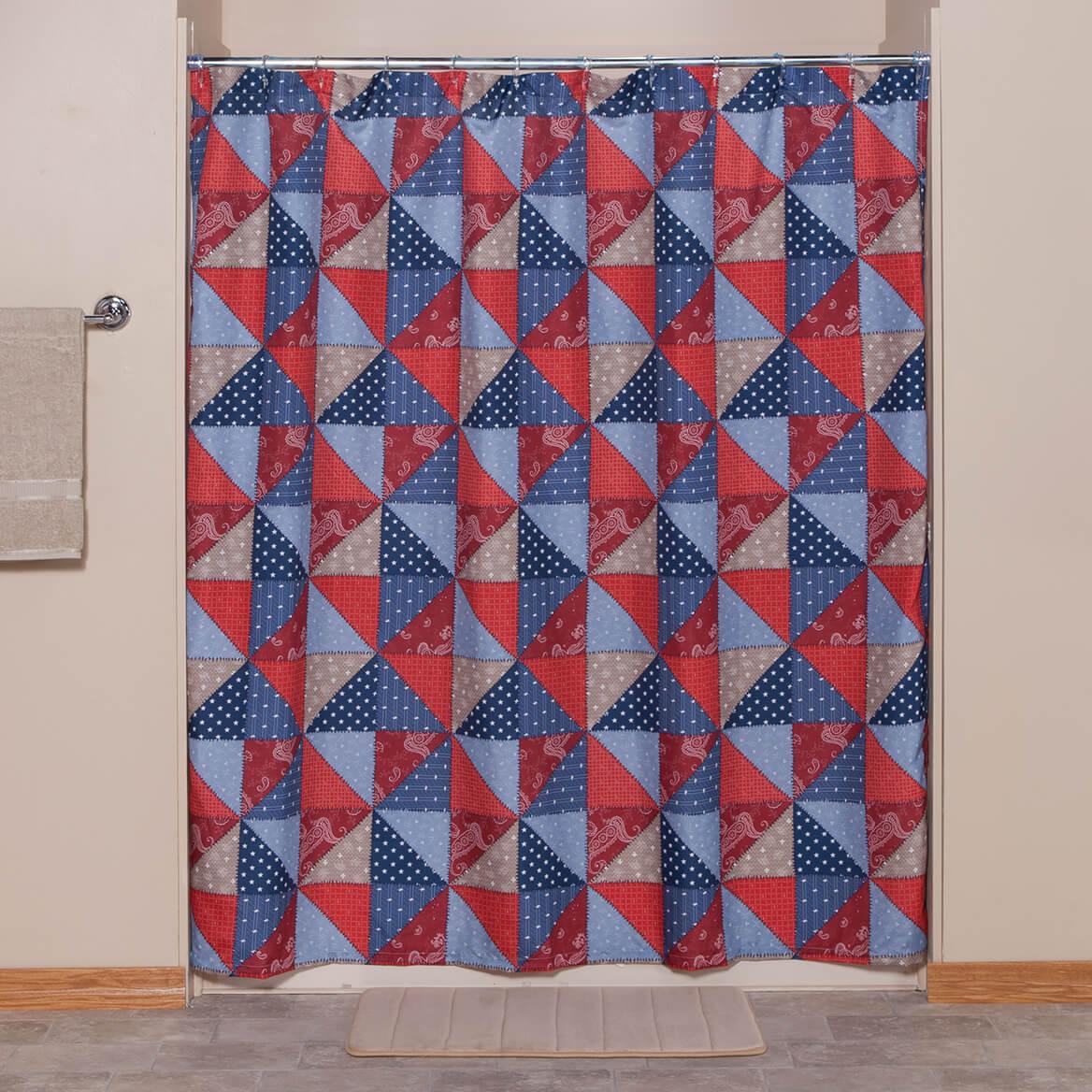 Americana Shower Curtain - Fabric Shower Curtain - Miles Kimball