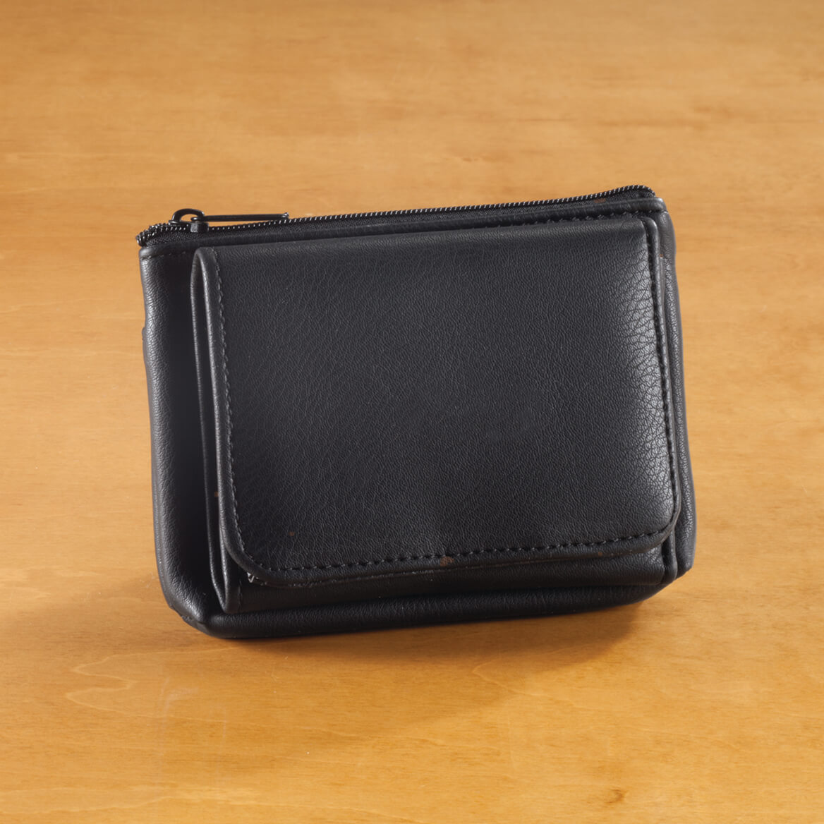 9ec31adf076d5 Personalized Leather Credit Card Holder - Miles Kimball