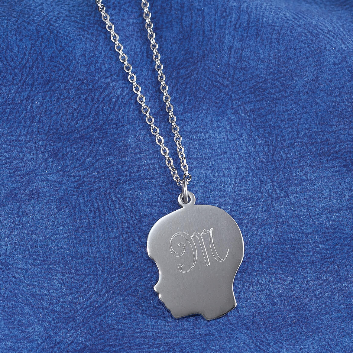 Personalized Silhouette Boy Necklace-354542