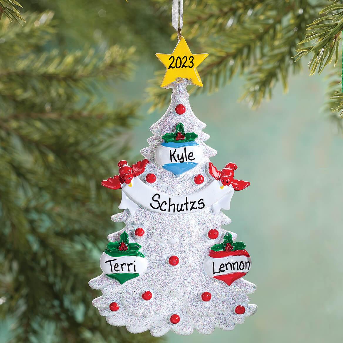 ... Personalized White Glitter Tree Ornament-355741