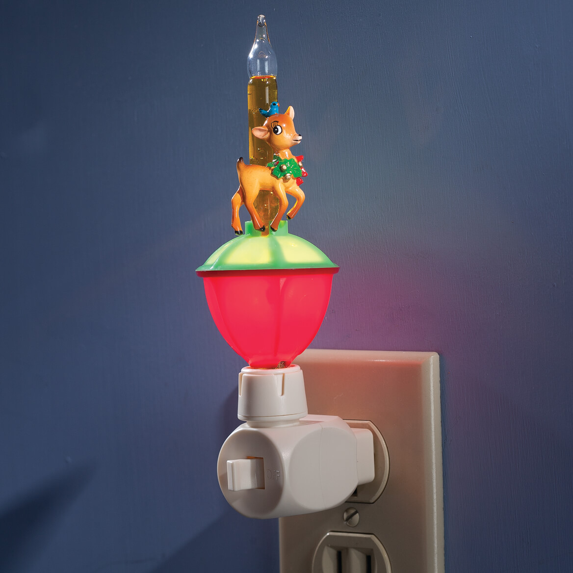 christmas bubble night light with interchangeable clips 355819