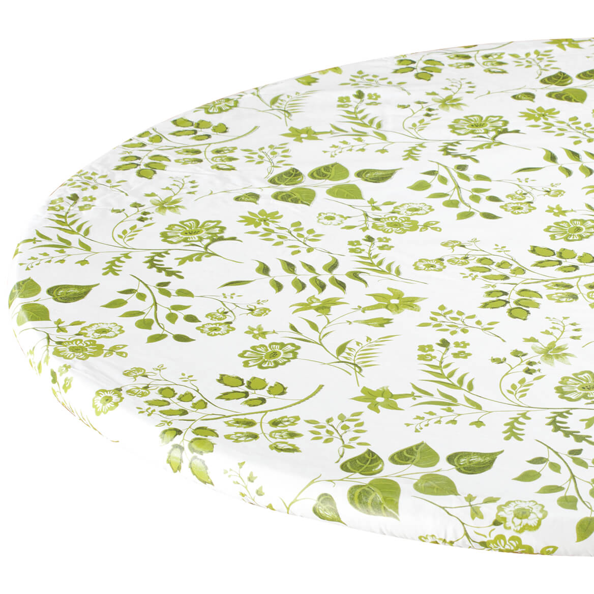 Flowing Flowers Vinyl Elasticized Tablecover By Home-Style Kitchen™-355908