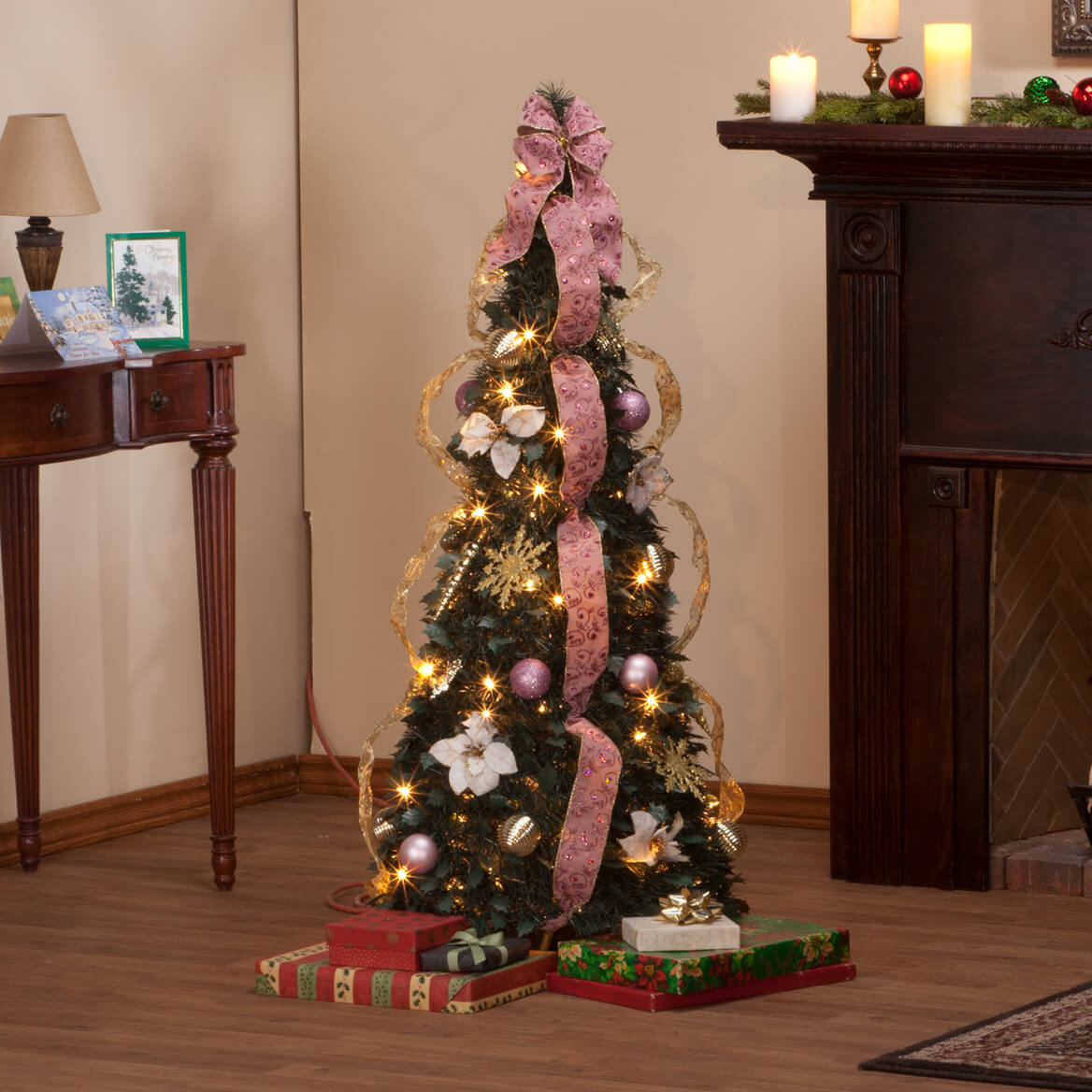 4' Victorian Style Pull-Up Tree by Holiday Peak™-356212
