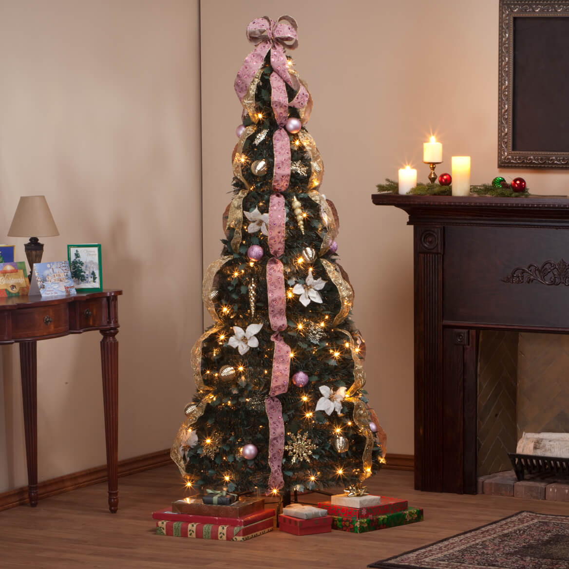 6' Victorian Style Pull-Up Tree by Holiday Peak™     XL-356213