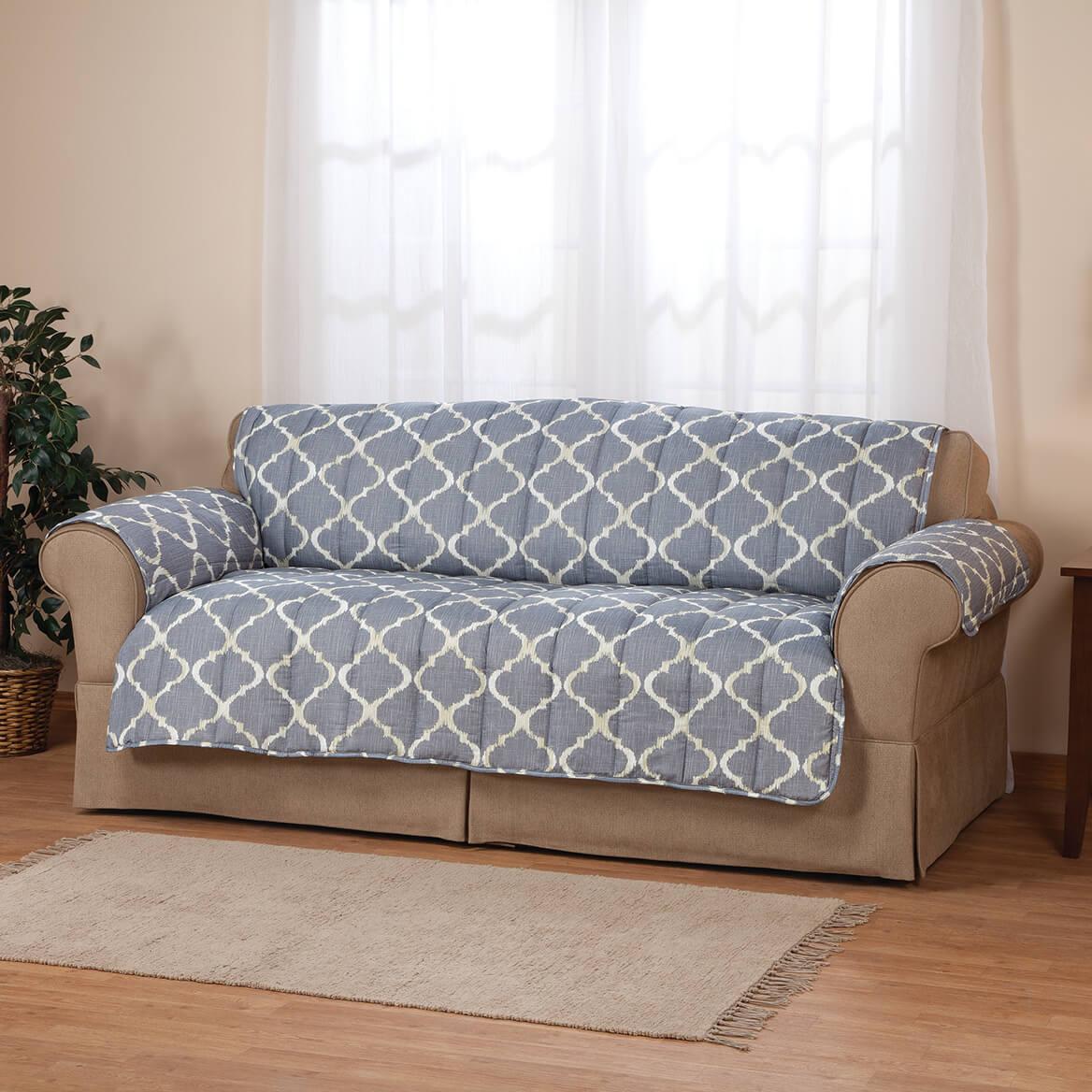 ... Mirage Print Microfiber Sofa Protector 356345