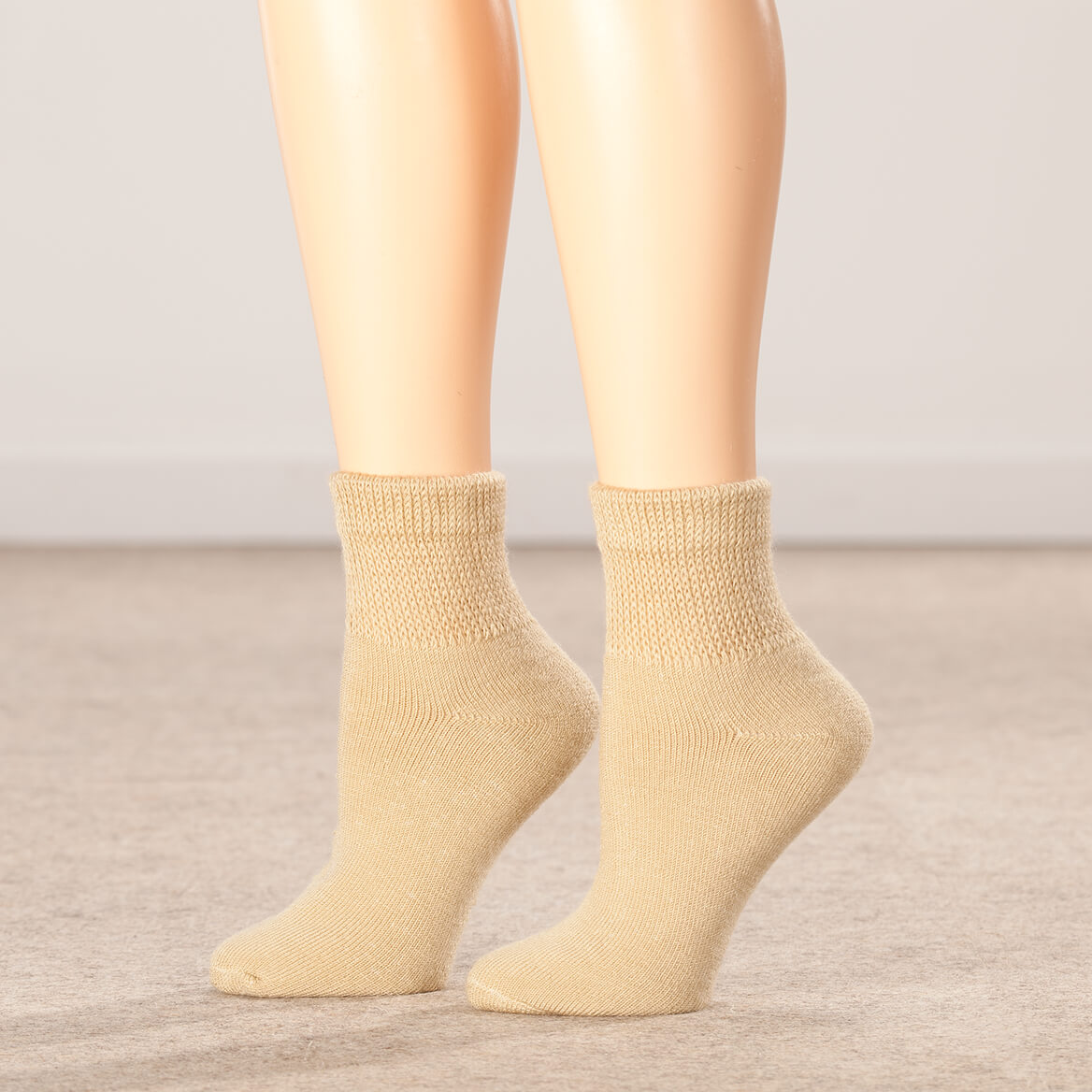 Silver Steps™ 3-Pack Quarter Cut Extra Plush Diabetic Socks-356348