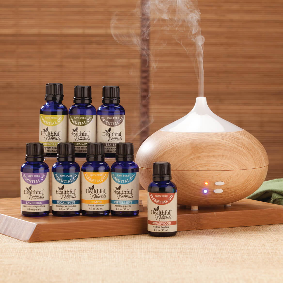Healthful™ Naturals Deluxe Essential Oil Kit & 280 ml Diffuser-356537