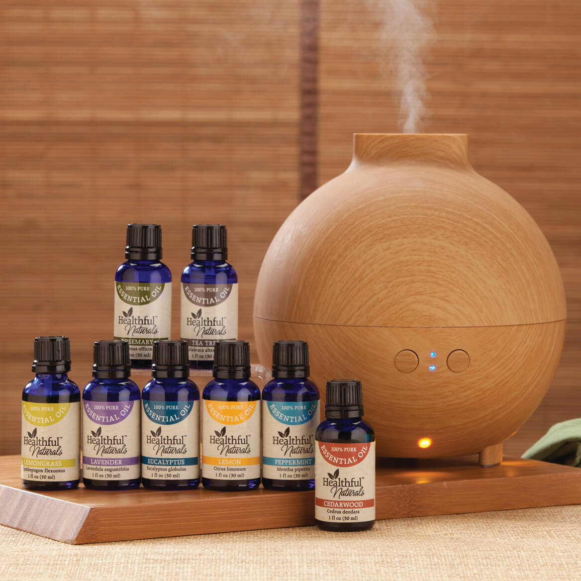 Healthful™ Naturals Deluxe Essential Oil Kit & 600 ml Diffuser-356538