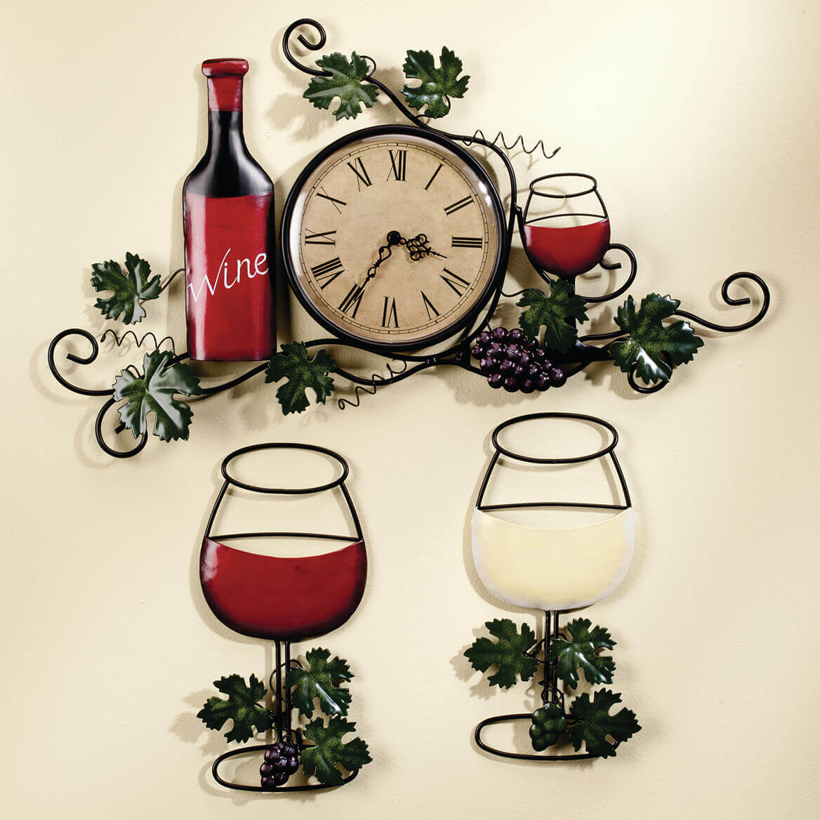 Wine Glass Wall Hanging Set of 2-356770