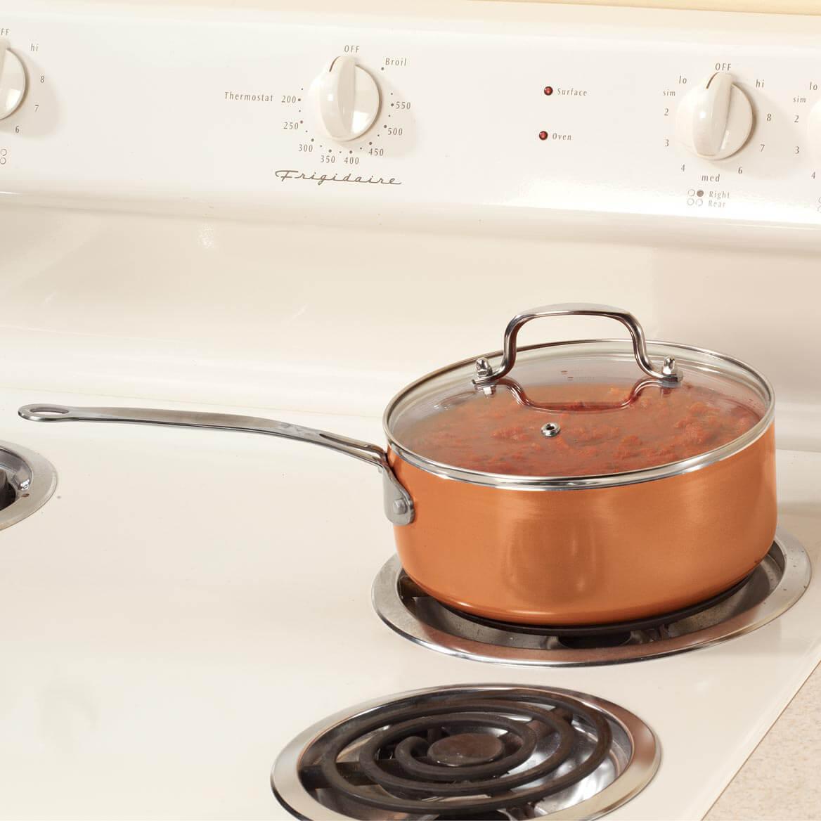 Ceramic Non-Stick Sauce Pan with Lid, 3 Qt-357616
