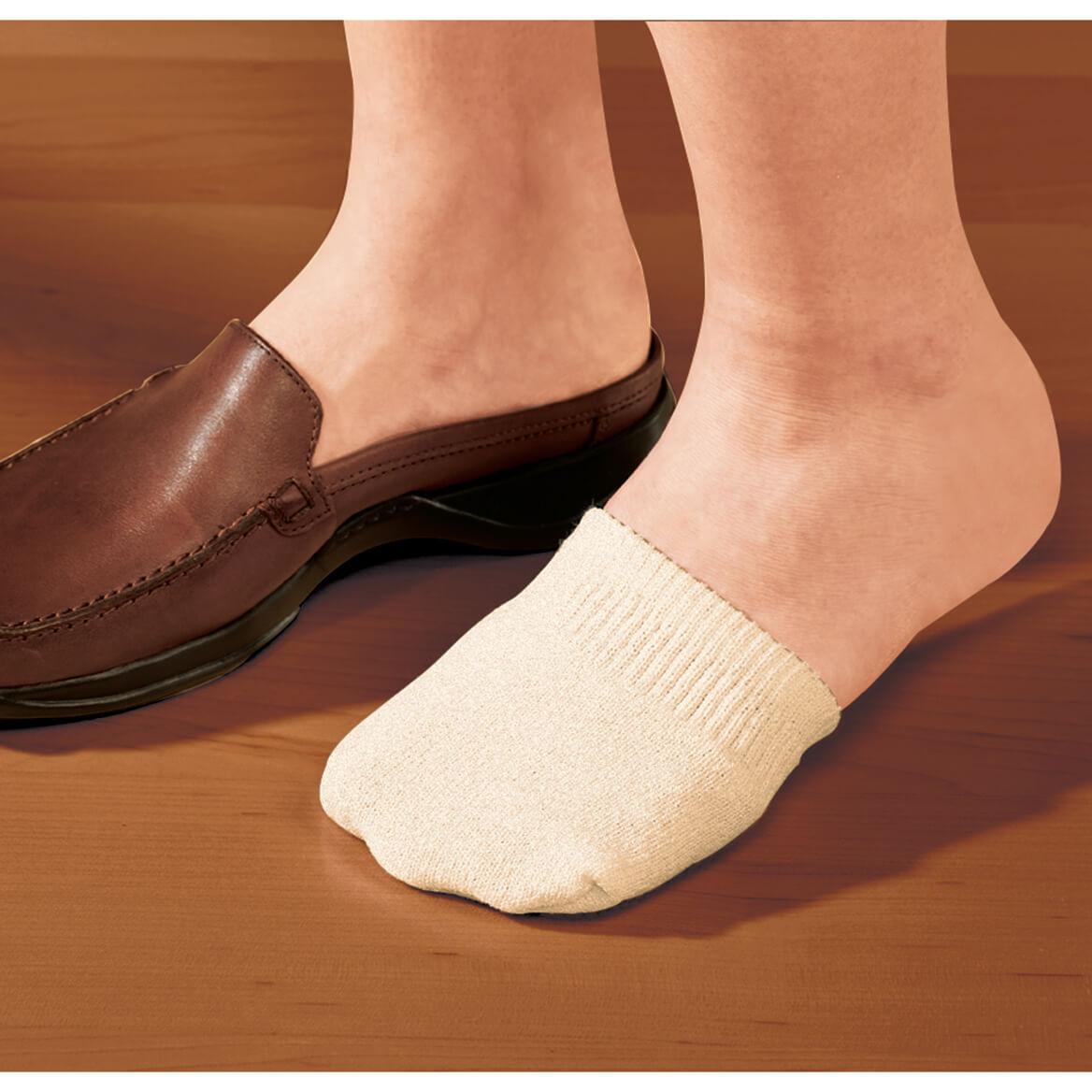 Toe Half Socks 2 Pair - Natural-358149