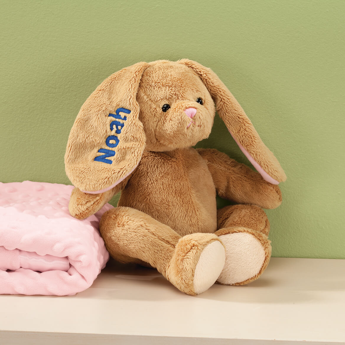 Personalized Brown Plush Bunny-358204