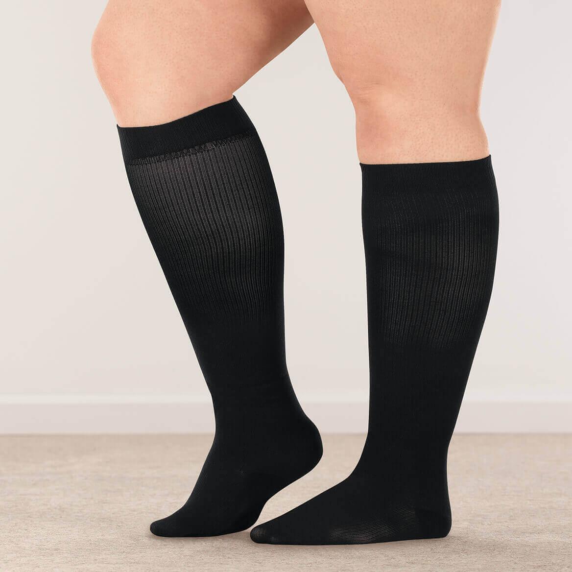03a06bea4a ... Silver Steps™ Wide Calf Compression Socks, 15–20 mmHg-358895