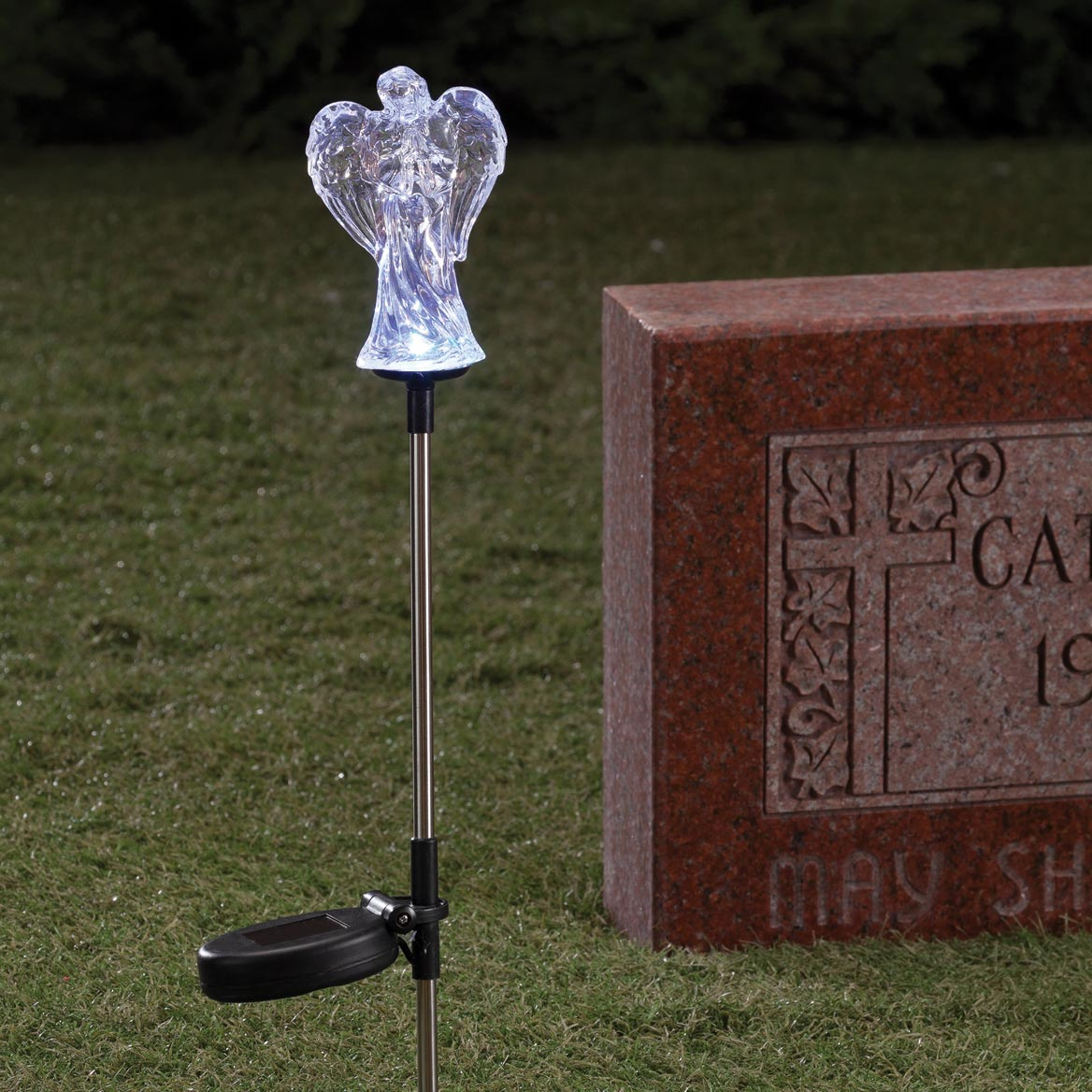 Solar LED Color Changing Angel Stake-359829