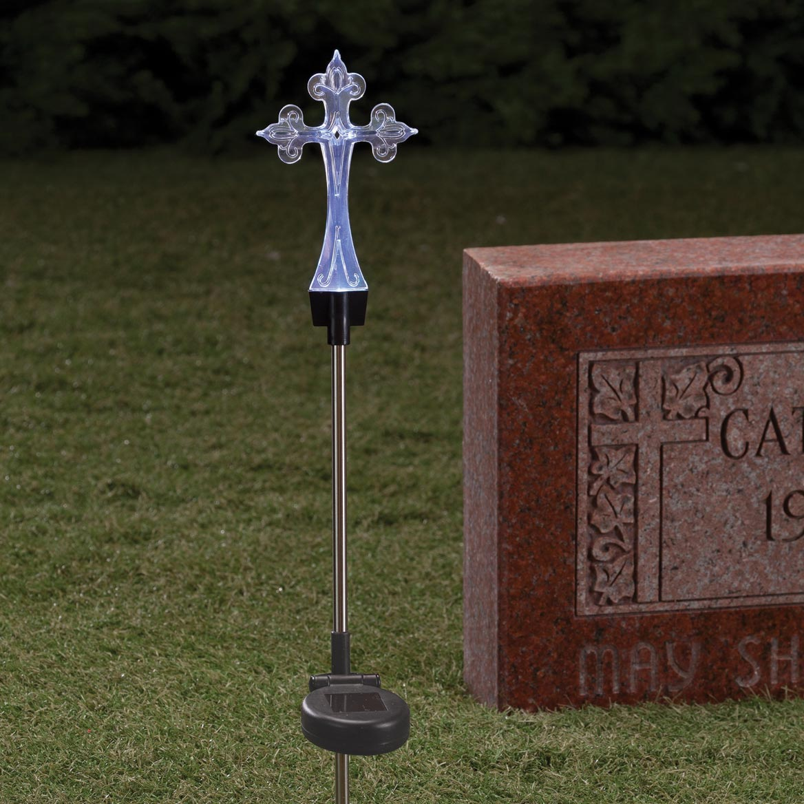 Solar LED Color Changing Cross Stake-359830