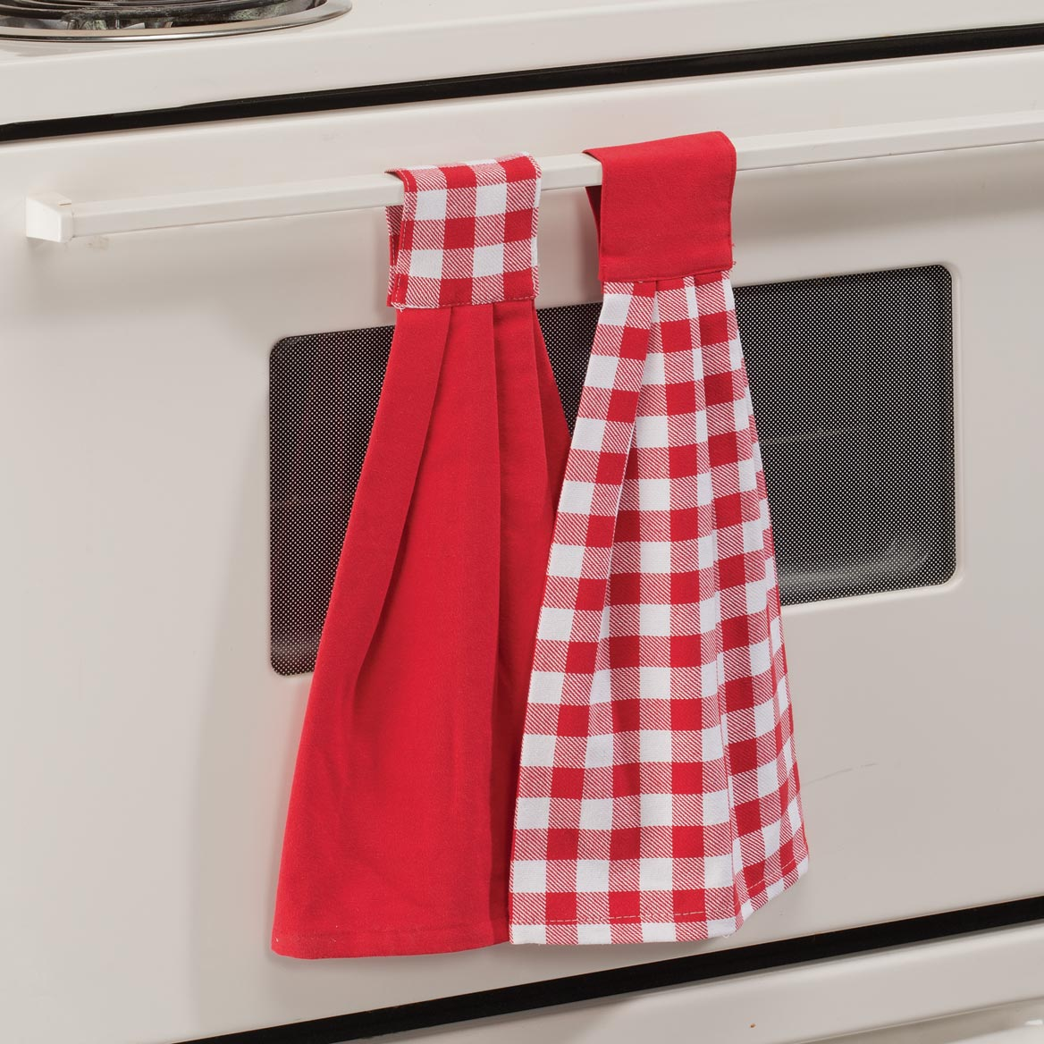 Buffalo Check Tie Towels, Set of 2-359883