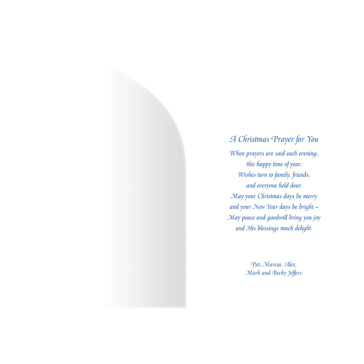 Personalized Christmas Prayer Card Set of 20 - Miles Kimball