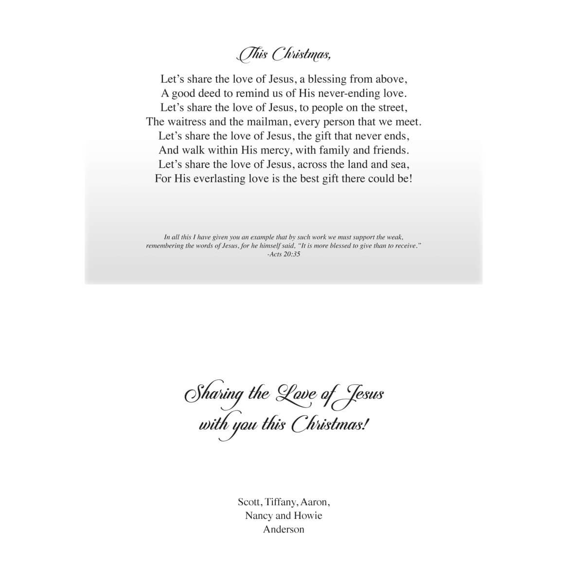 Share the Love of Jesus Christmas Card Set/20-360213