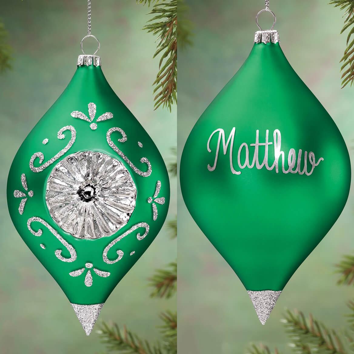 Personalized Birthstone Glass Reflector Ornament-360372
