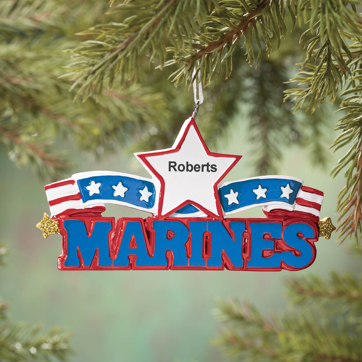 Personalized Resin Military Ornament-360376
