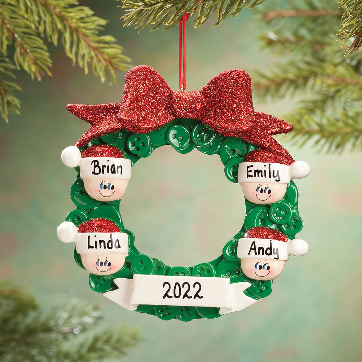 Personalized Wreath Family Ornament-360552