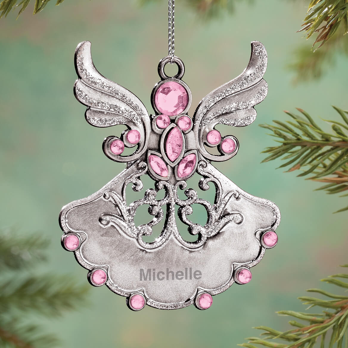 Personalized Birthstone Angel Pewter Ornament-360587