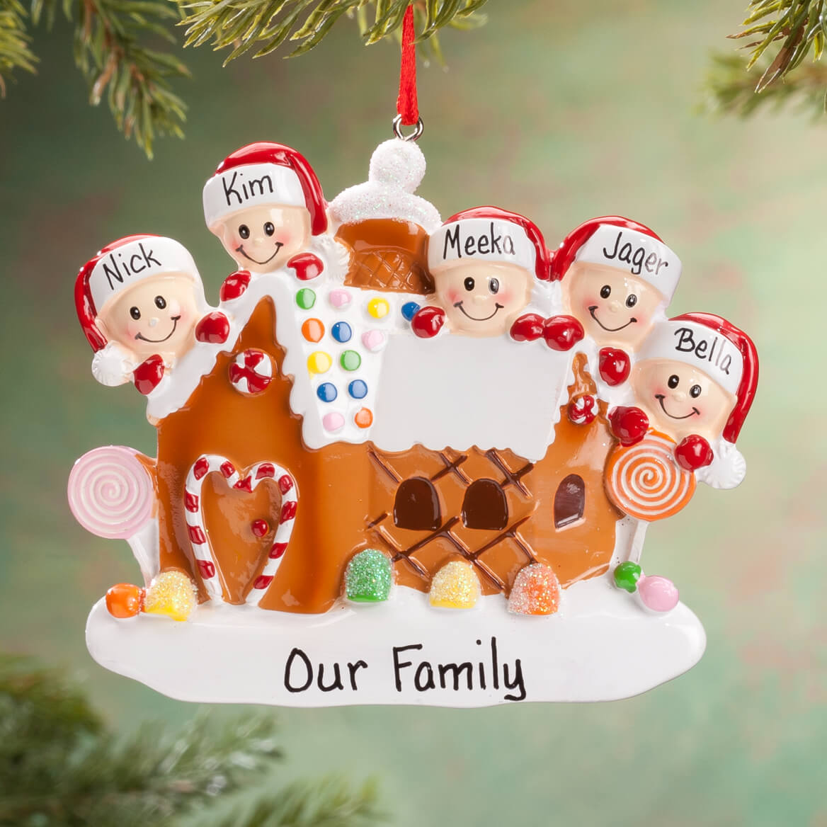 Personalized Gingerbread Family Ornament-360613